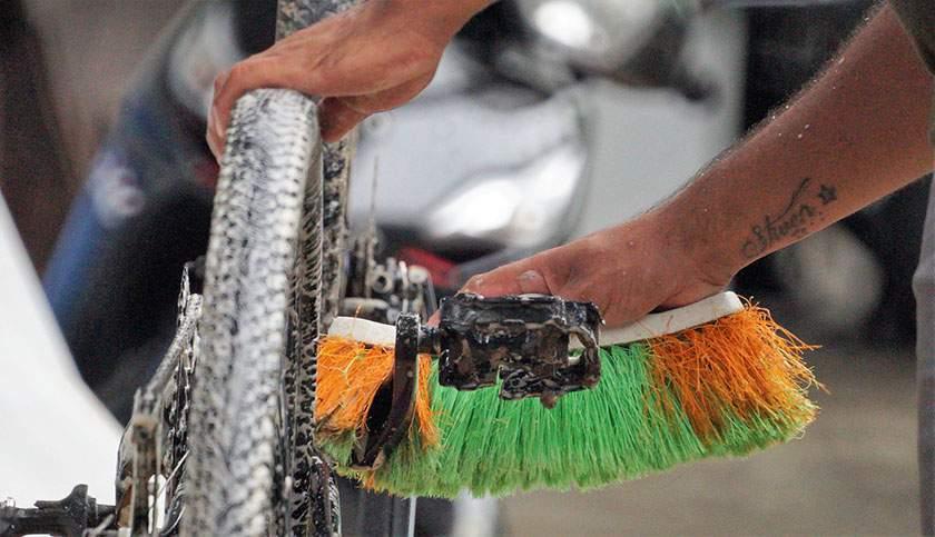 Pulizia e lubrificazione della bici
